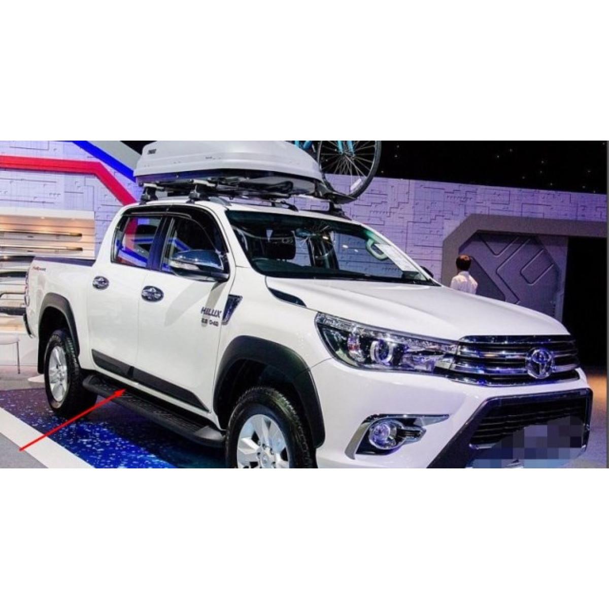 Молдинги дверные для Toyota hilux 2016