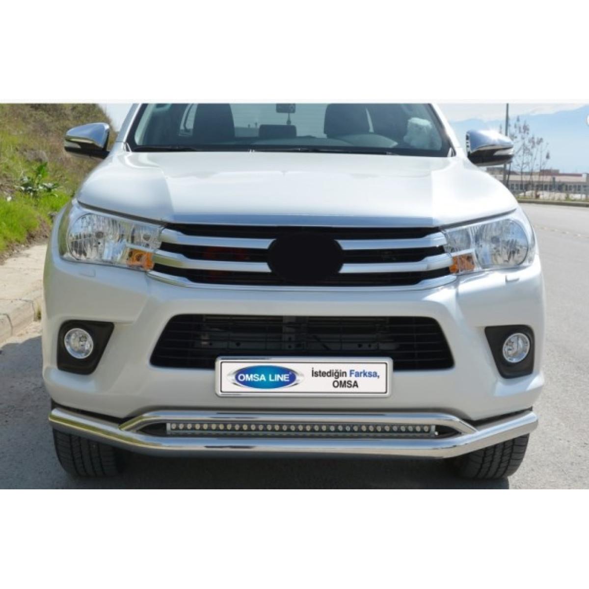 Защита бампера Toyota Hilux 2017