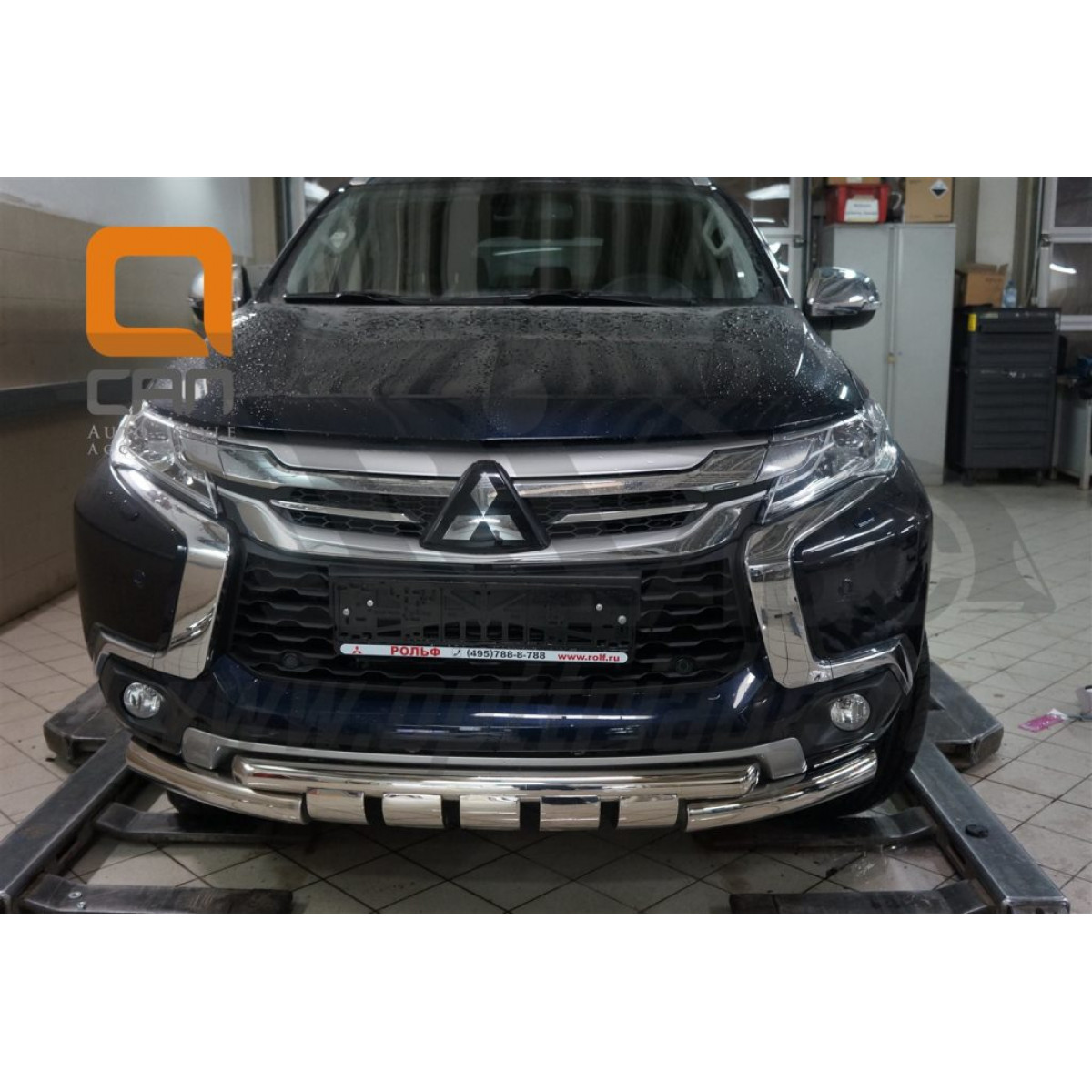 Защита переднего бампера Mitsubishi Pajero Sport 2017