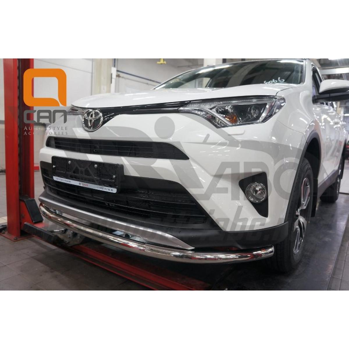 Защита переднего бампера Toyota Rav4 2017
